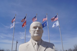 North Texas Ramblings -- Eisenhower Statue in Denison